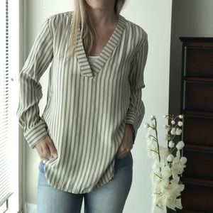 Madewell Silk Constant Shirt Stripe pullover top